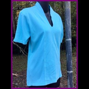 Aqua Blue Top, sz L